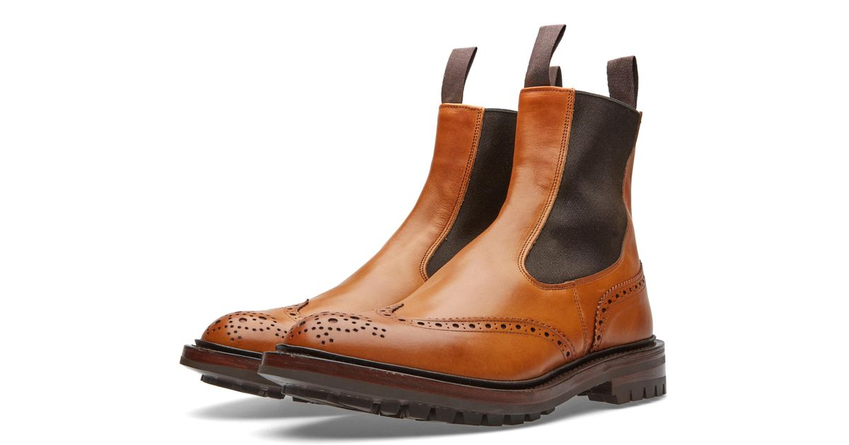 Stow Burnished-leather Brogue Boots - Dark brownTrickers 29AeU