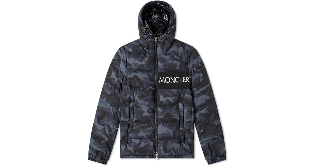 4023f33dd504 Lyst - Moncler Aiton Logo Hooded Down Jacket in Gray for Men