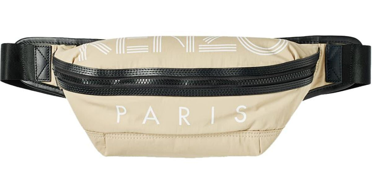 a2cca57ea KENZO ' Paris' Belt Bag in Black for Men - Lyst