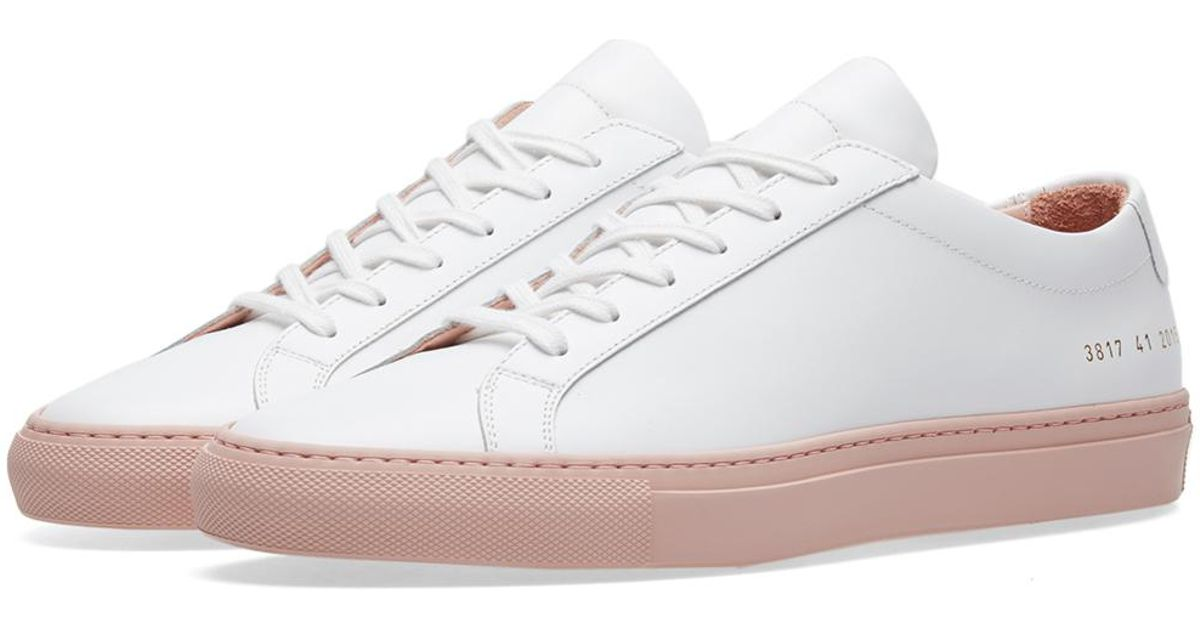 7234a3f8eabe Lyst - Common Projects Achilles Low Coloured Sole in White