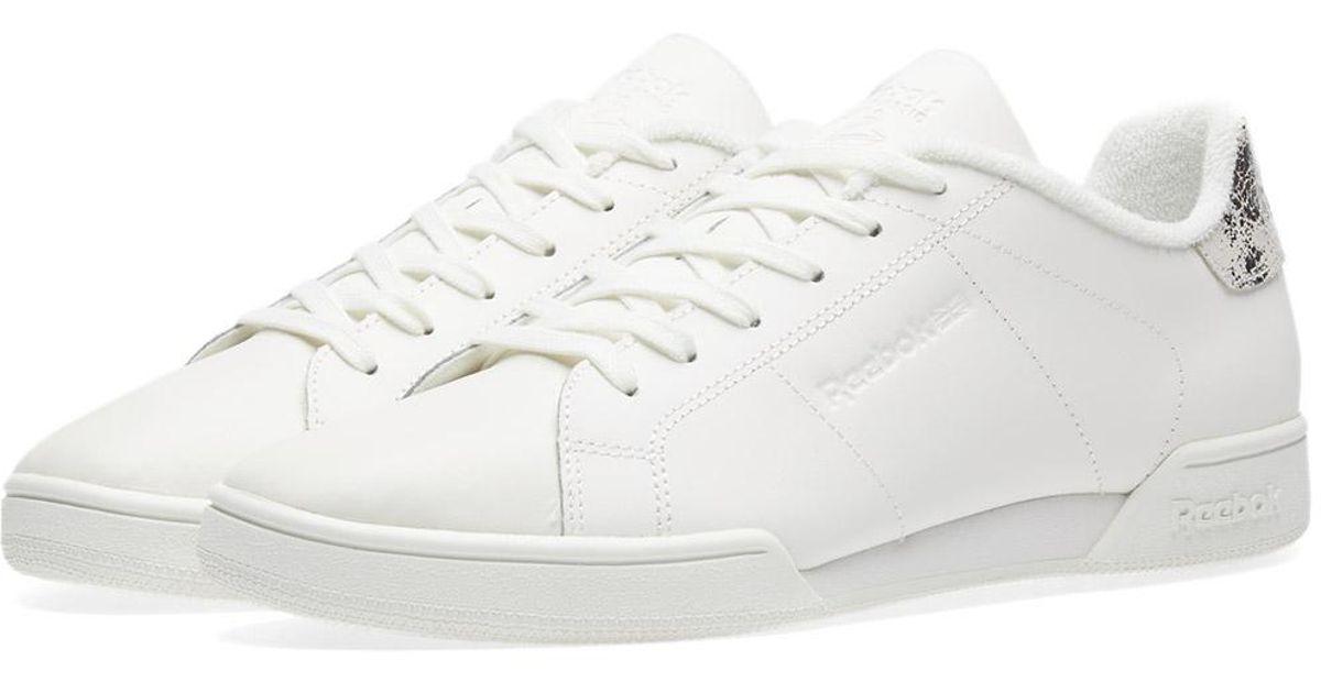 b460626591a Lyst - Reebok Npc Ii Fbt W in White