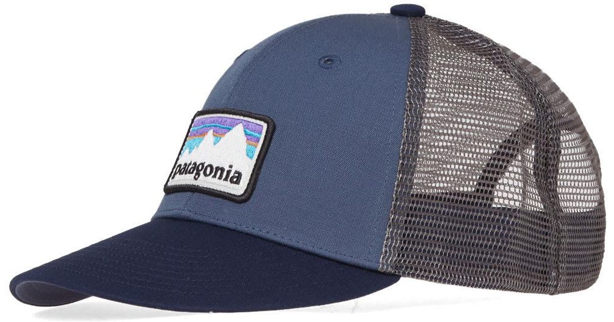 cd956dbfdfb Lyst - Patagonia Shop Sticker Patch Trucker Cap in Blue for Men
