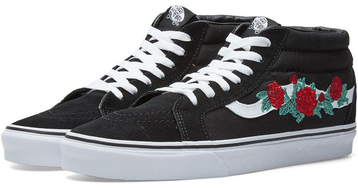 98d92014bd89f8 Lyst - Vans Sk8-mid Reissue Rose Thorns in Black for Men
