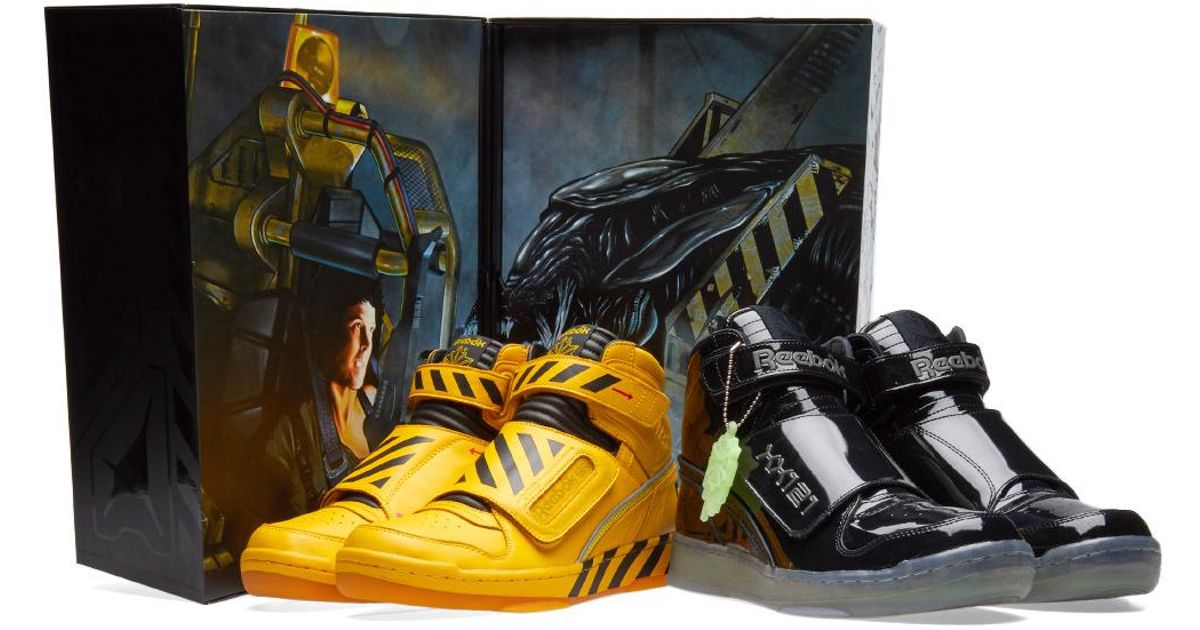 Lyst - Reebok Alien Stomper Mid  the Final Scene  in Yellow for Men 140beb5a1