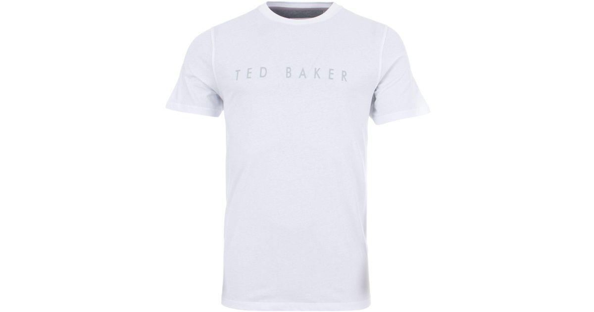 d00443c4 Ted Baker Chest Logo T-shirt in White for Men - Lyst