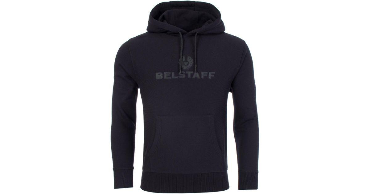 147f119bac77 Belstaff Northview Overhead Hoodie in Black for Men - Lyst