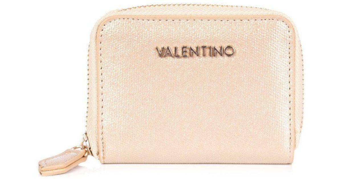 Valentino Marilyn Metallic Small Zip Purse in Metallic - Lyst 4a563ea631aeb