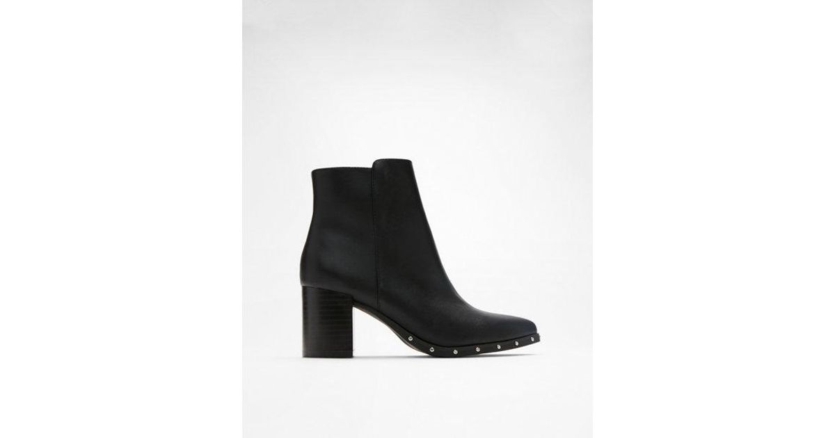 b30a3d4fd57f Lyst - Express Studded Heeled Booties in Black