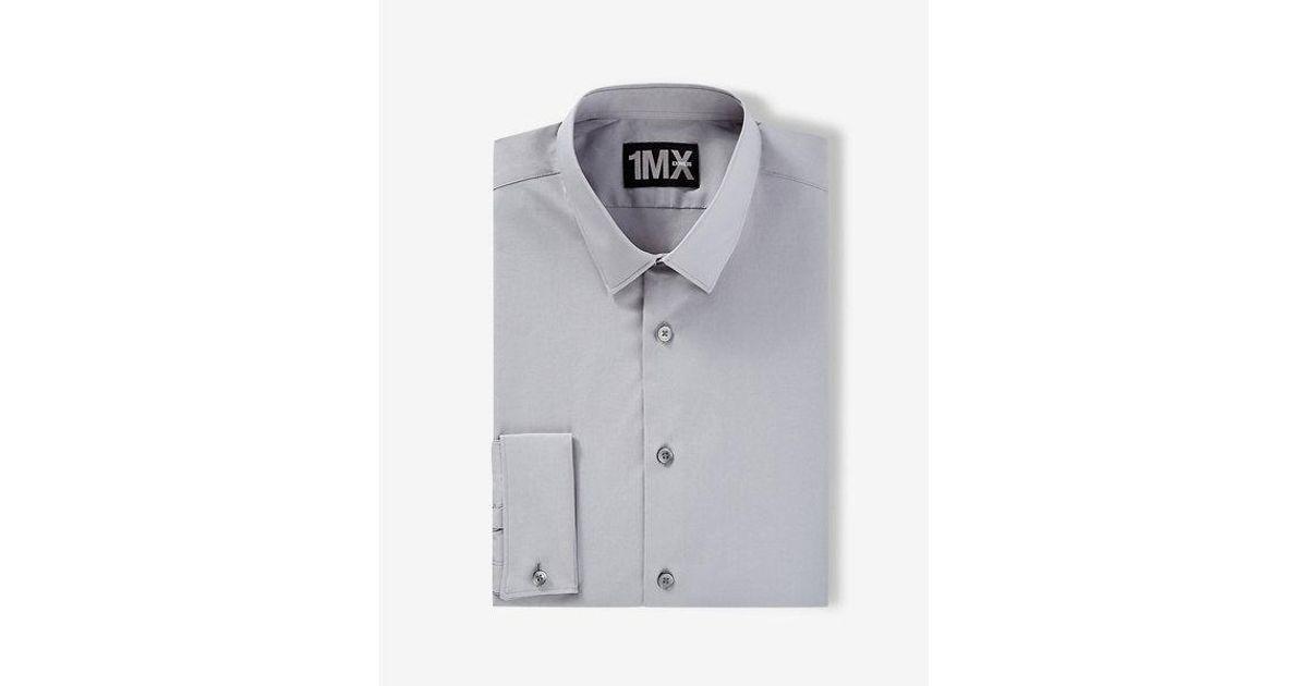 0f3006f69d5 Lyst - Express Modren Fit Easy Care 1mx Shirt in Gray for Men