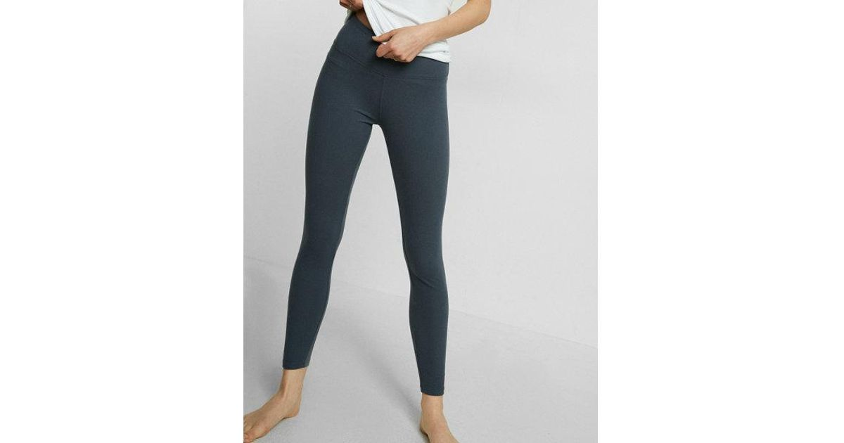 302fccc0dbee55 Lyst - Express Petite Supersoft Ankle Leggings in Blue