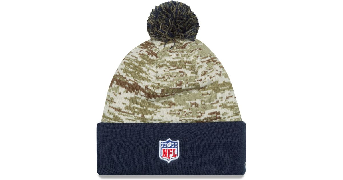 Lyst - KTZ San Diego Chargers Salute To Service Knit Hat in Green for Men de2df12e9177
