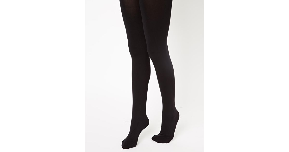 e26c25ea1 Pretty Polly Shape It Up 80 Denier Tummy Shaper Tights in Black - Lyst