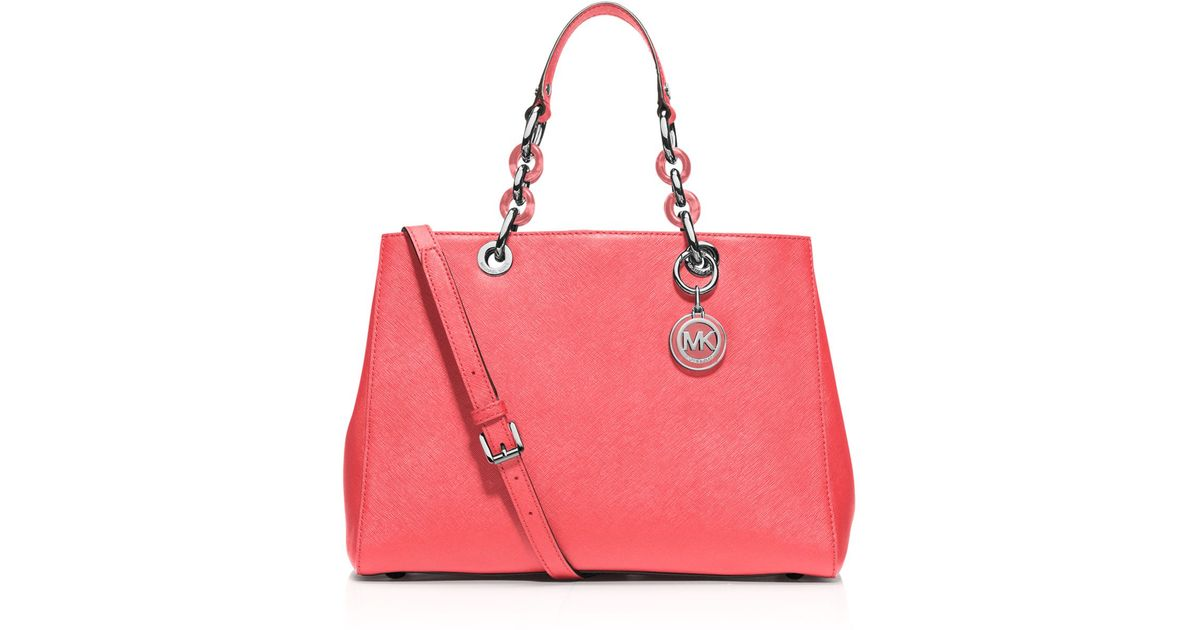 Michael Kors Cindy Laukku : Michael kors medium cynthia saffiano satchel in