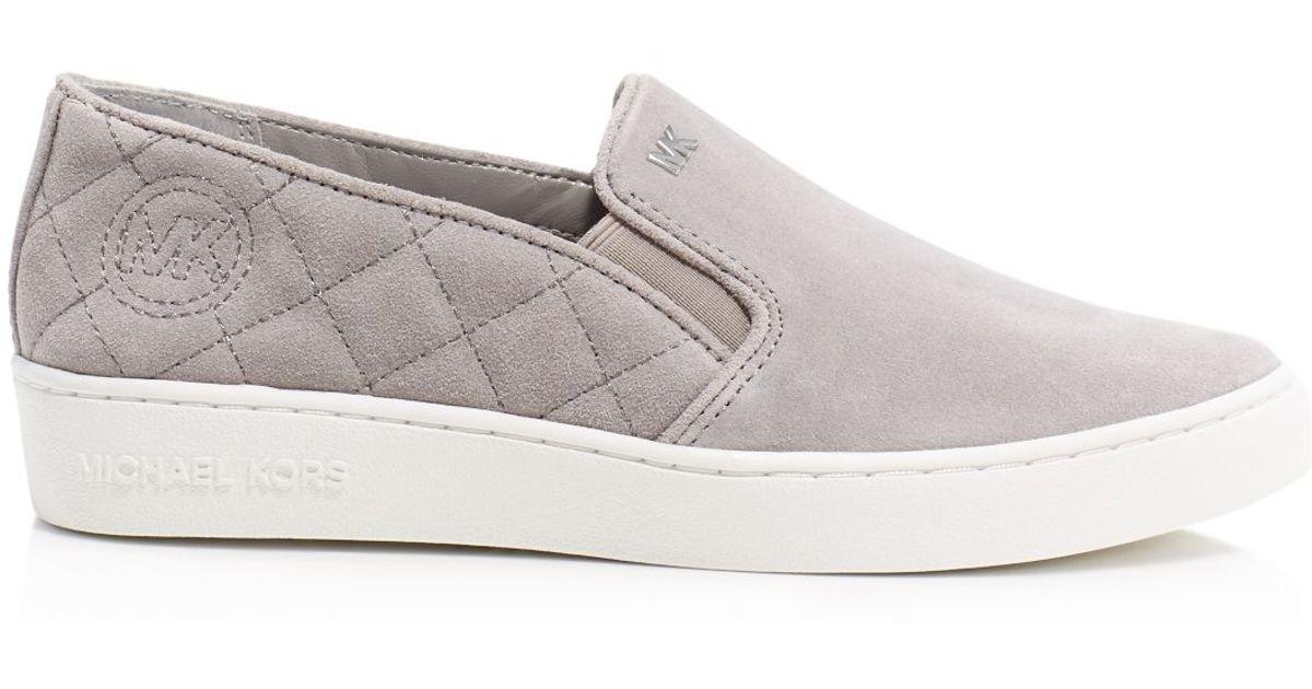 Michael Michael Kors Keaton Quilted Slip On Sneakers In