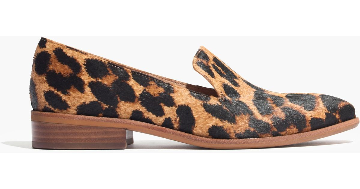 35b5bea5be0 Lyst - Madewell The Orson Loafer In Leopard Print