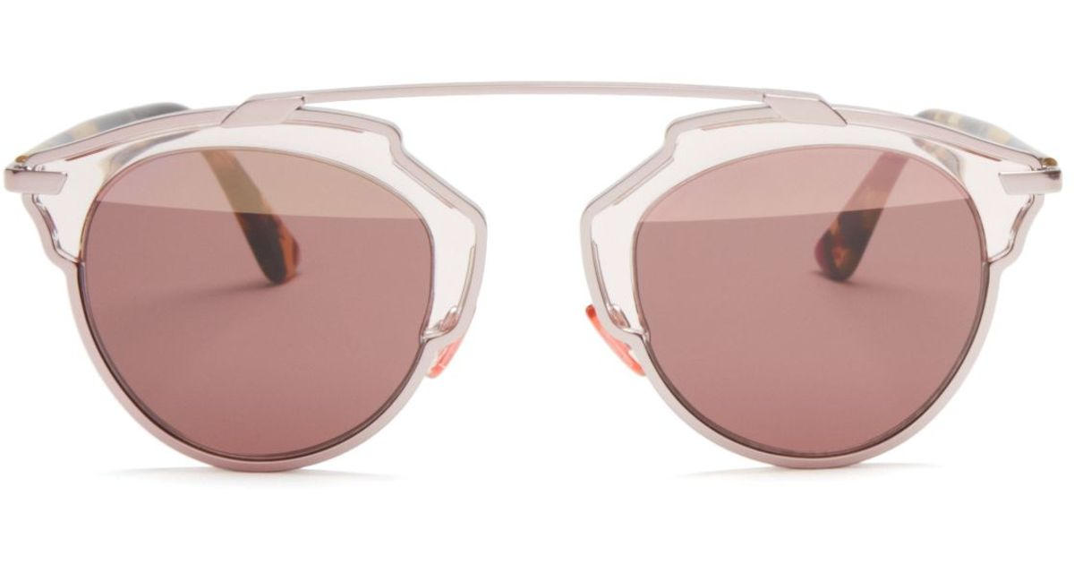 1be3bc2287 Dior So Real Mirrored Sunglasses in Pink - Lyst