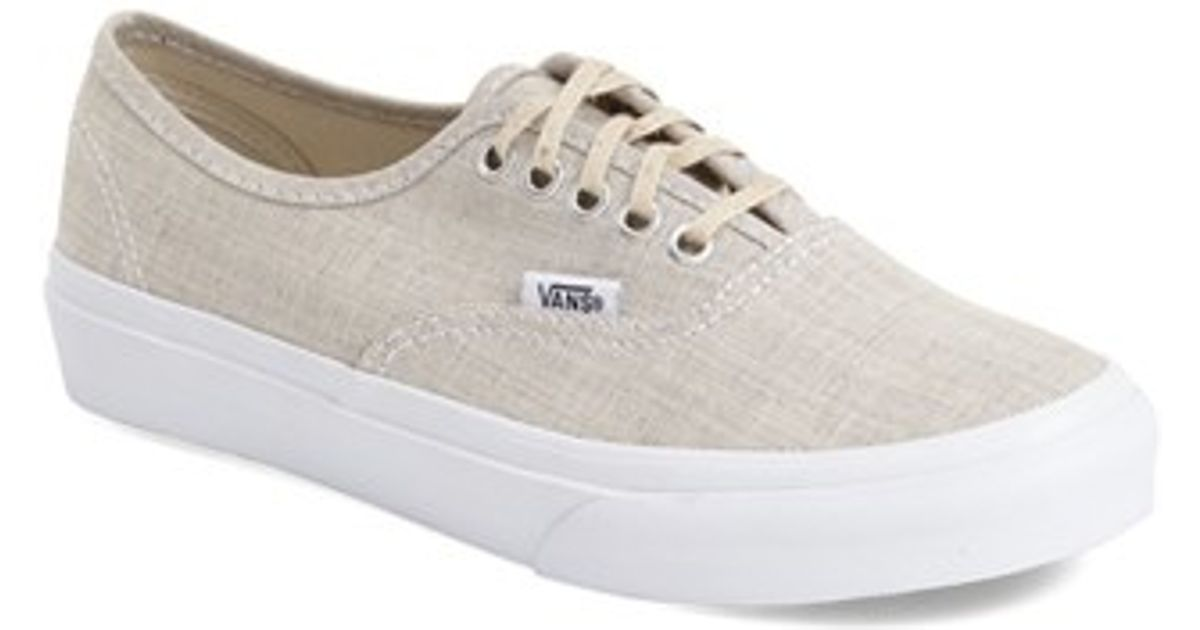 b54cfecee43 Lyst - Vans  authentic - Slim  Chambray Sneaker in Natural