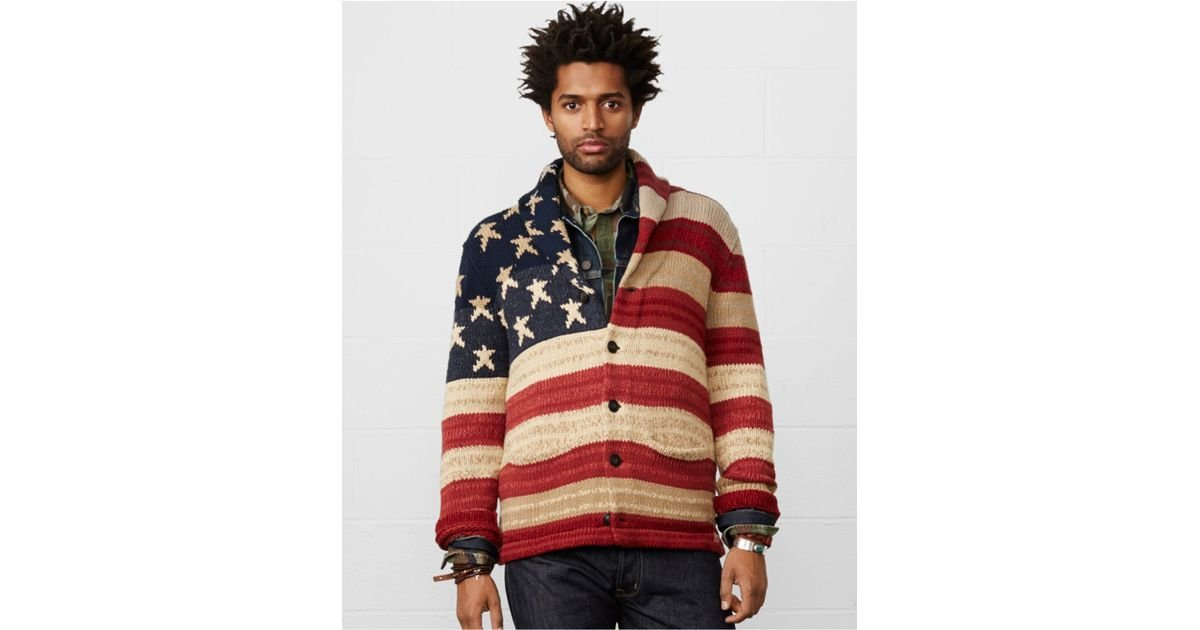 Lyst - Denim \u0026 Supply Ralph Lauren Flag Shawl-collar Cardigan in Blue for  Men