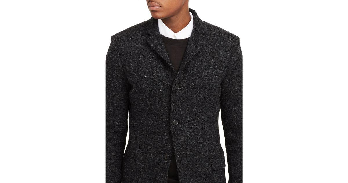 Men's black tweed jacket