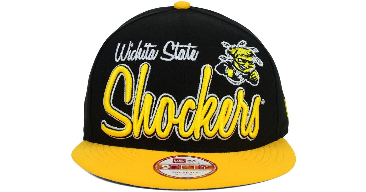 low priced eac24 d715a ... aliexpress lyst ktz wichita state shockers team script 9fifty snapback  cap in black for men 868d1 ...