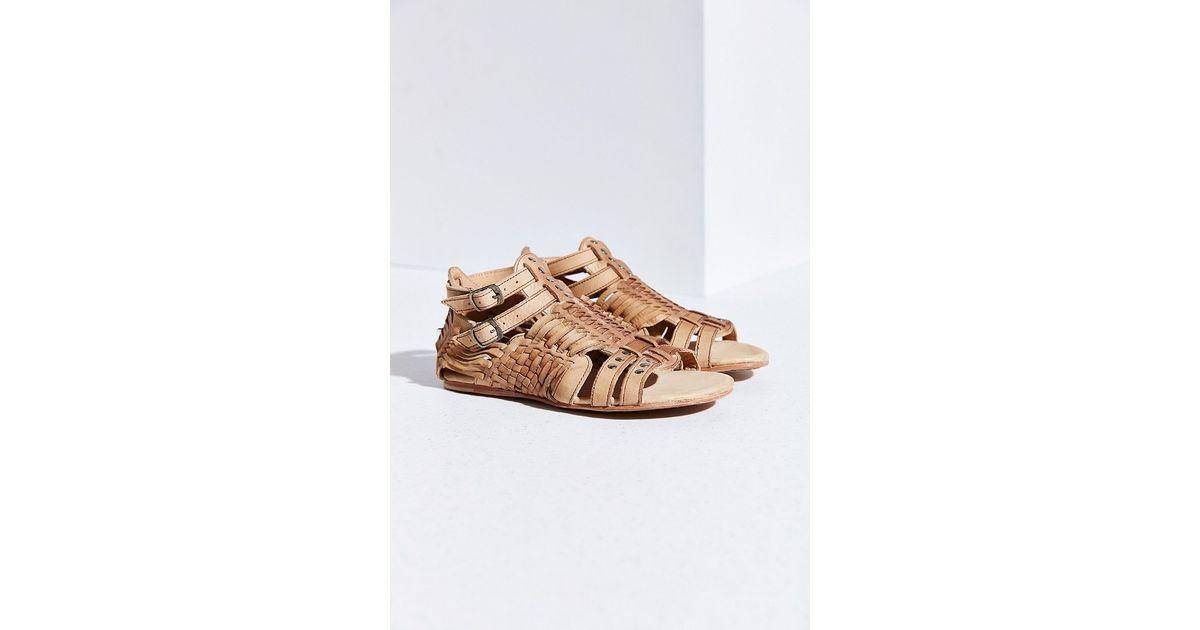 d397cf123053 Lyst - Bed Stu Claire Huarache Sandal in Natural