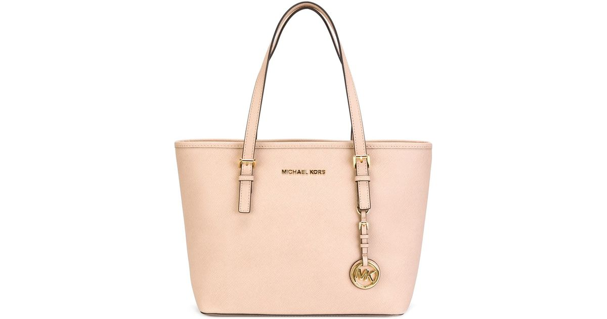fb0f628fa27d MICHAEL Michael Kors Small 'jet Set Travel' Tote in Natural - Lyst