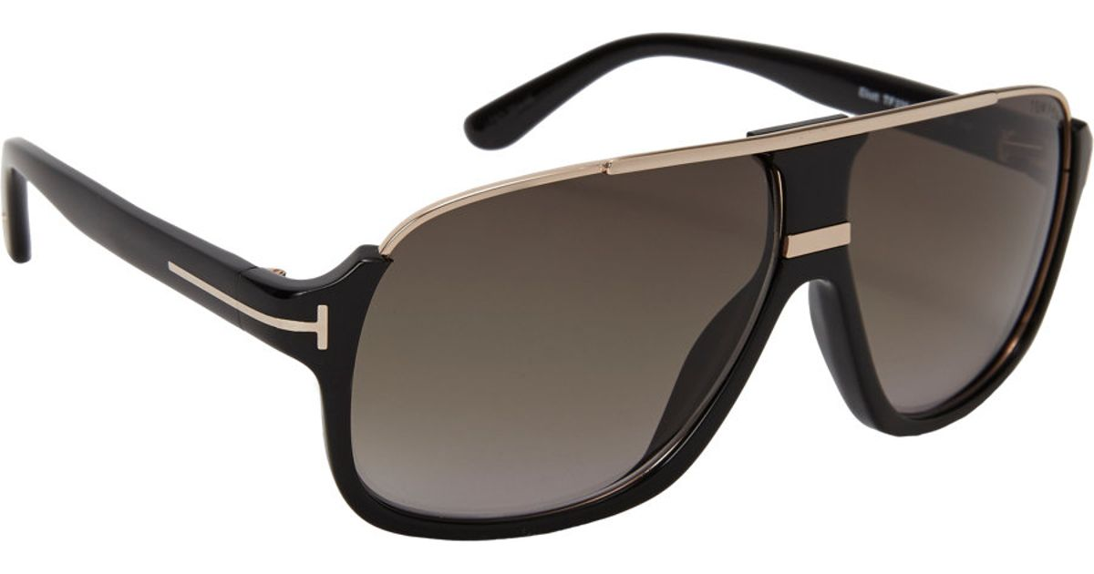 b5fef2f36e6b0 Tom Ford Elliot Sunglasses in Green for Men - Lyst