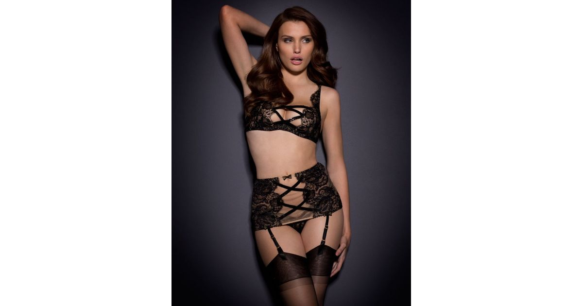 Lyst - Agent Provocateur Adelia Bra Black gold in Black dc90464ca