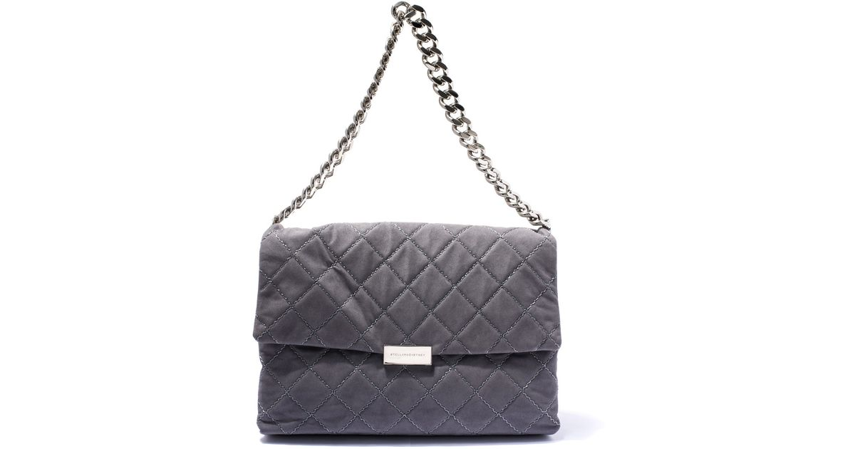 Lyst - Stella mccartney Grey Soft Beckett Quilted Shoulder Bag in Gray : grey quilted bag - Adamdwight.com