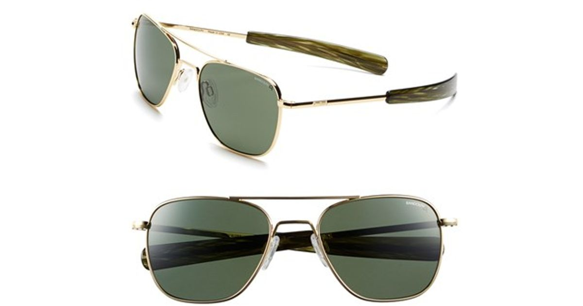 5fe3a18802e Lyst - Randolph Engineering  aviator  55mm Polarized Sunglasses - 23k Gold  Plated  Agx in Metallic for Men