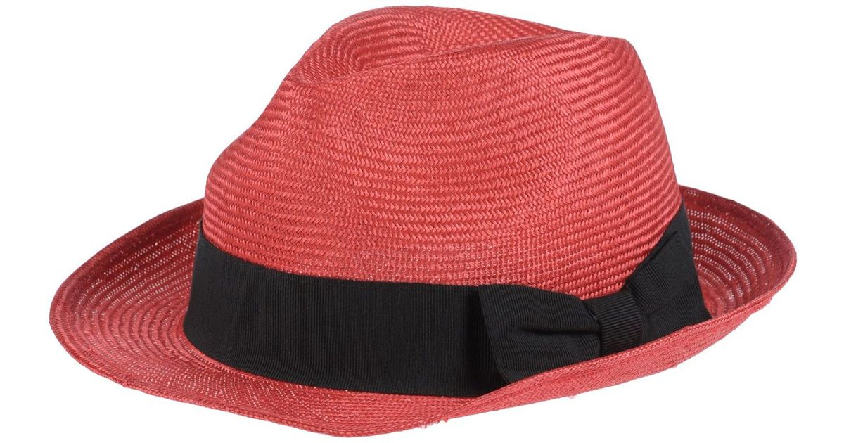 01a87eb4484 Kiton Hat in Red for Men - Lyst