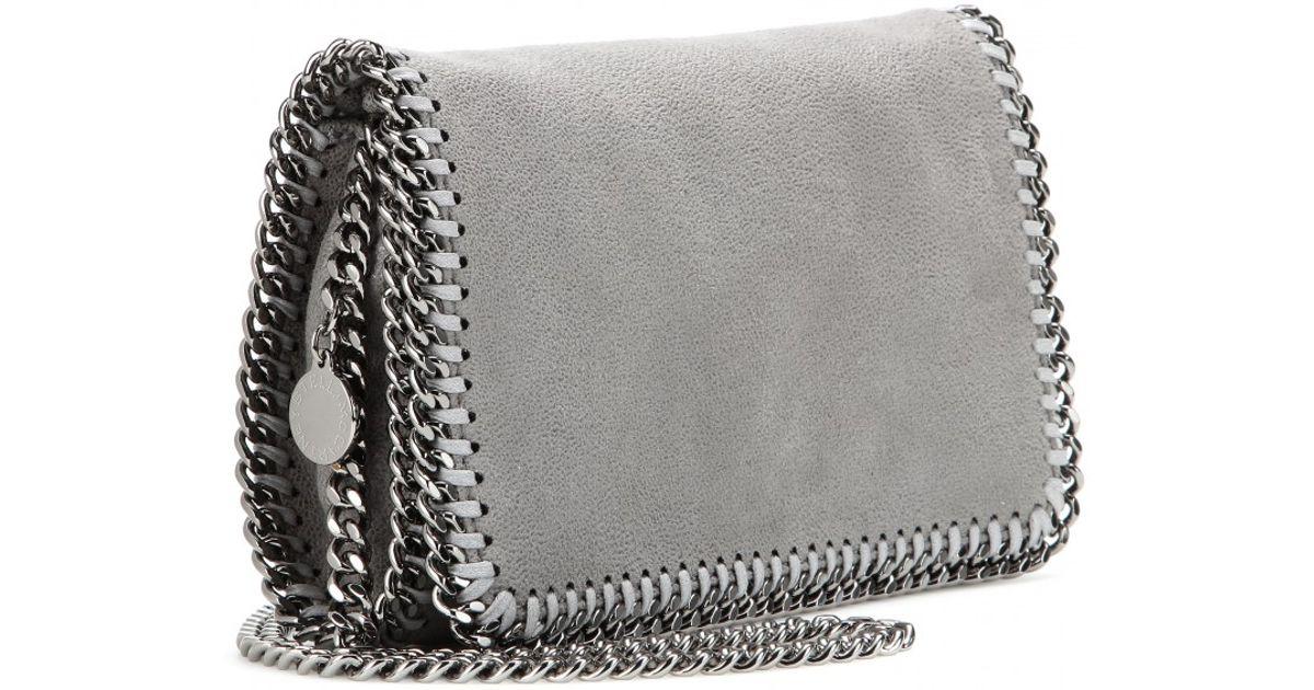 079ed11968 Lyst - Stella McCartney Falabella Shaggy Deer Mini Shoulder Bag in Gray