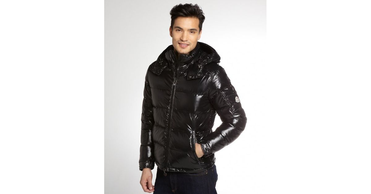 Lyst - Moncler Black Quilted Maya Down Fill Hooded Jacket in Black for Men