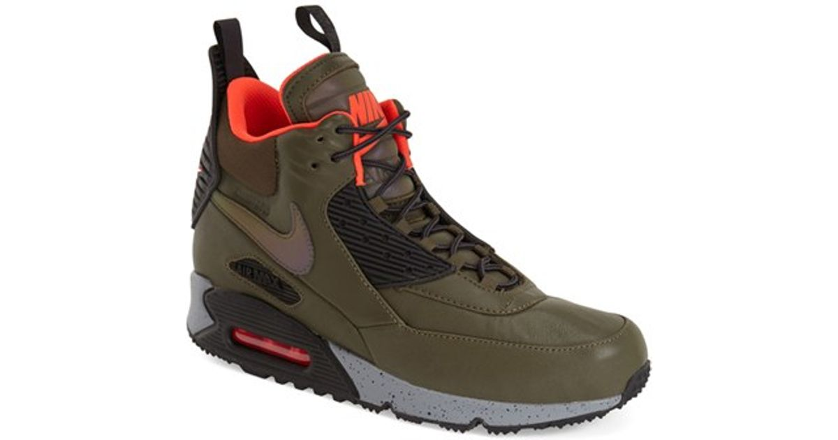 Lyst Nike Men 90 Winter Max For In High Sneakers Air Top Green TJclK1F3