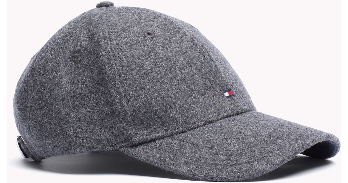 0b93856aee2ce Tommy Hilfiger Melton Cap in Gray for Men - Lyst