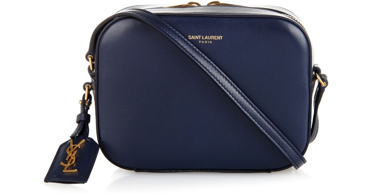 c22994725dfc Lyst - Saint Laurent Small Leather Camera Bag in Blue