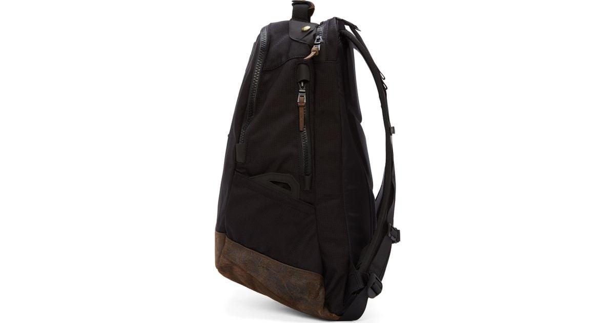 bb233dd85 Visvim Black And Brown Leather Ballistic Backpack in Black for Men - Lyst