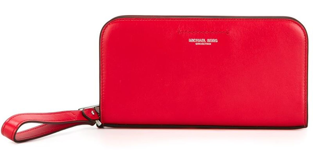 8f8bbdb9669a ... discount code for lyst michael kors celeste continental wallet in red  5795d 641f3