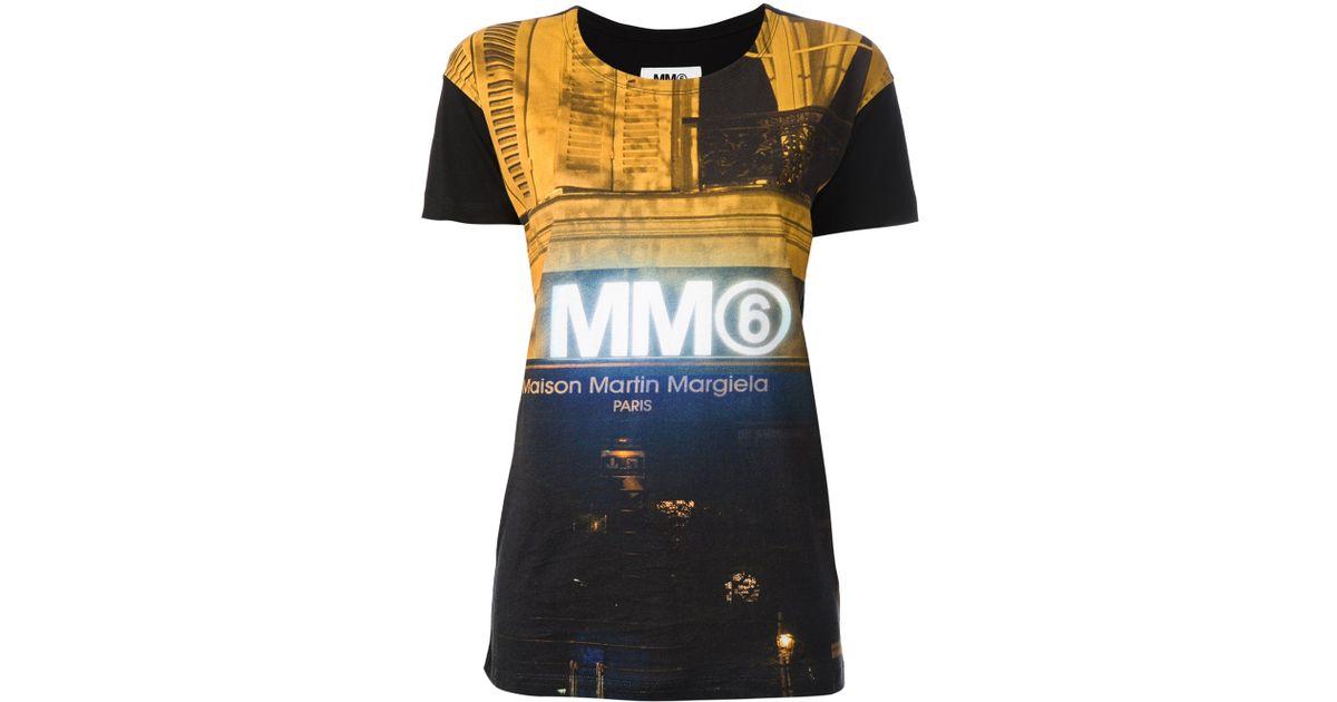 Lyst Mm6 By Maison Martin Margiela Paris Front Door Print Tshirt
