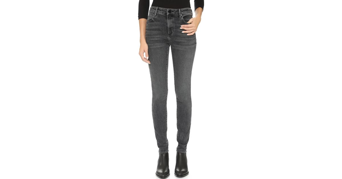 b9ddc3e6c0 Lyst - Alexander Wang 001 Slim Fit High Rise Jeans in Gray