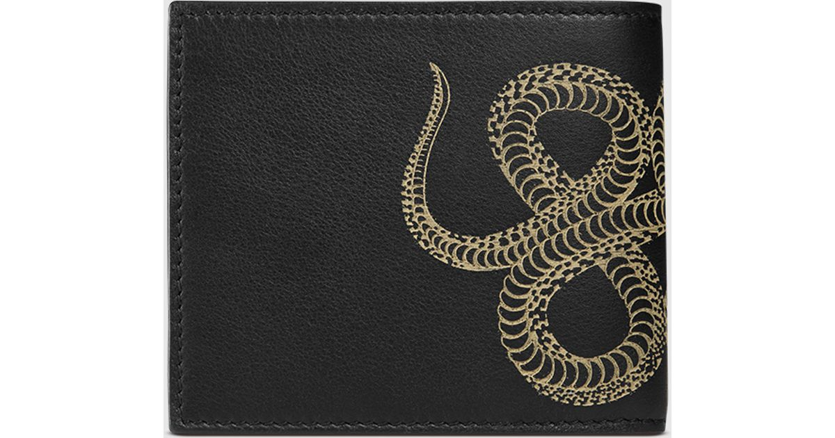 4b4a0e88ab90 Gucci Snake Leather Wallet for Men - Lyst