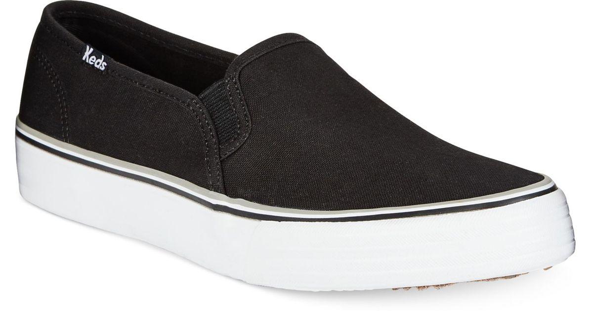 a77f1eca66b3 Lyst - Keds Women S Double Decker Slip-On Sneakers in Black