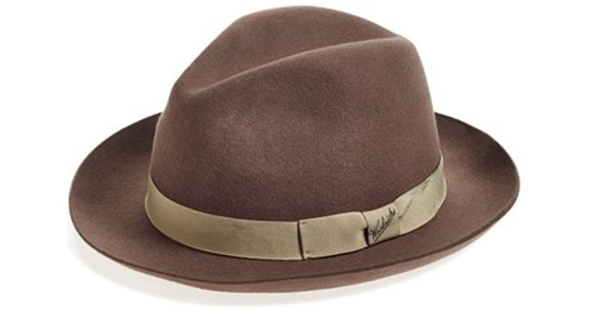 779f9e16b3c3d Lyst - Woolrich Water Repellent Wool Felt Fedora in Brown for Men