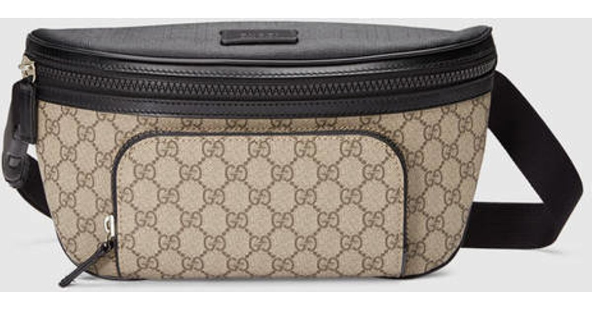 e80bd07ca574 Gucci Gg Supreme Belt Bag in Natural for Men - Lyst