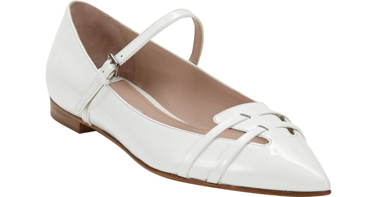 View For Sale Miu Miu Patent Leather Flats Choice Cheap Online dMlYO