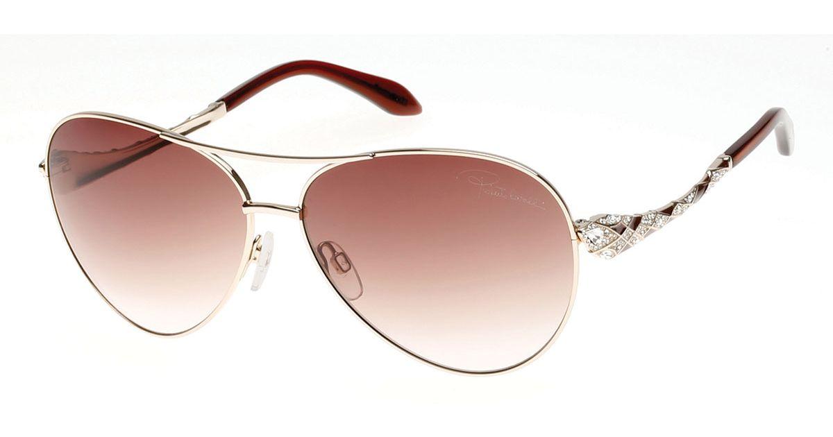 d6e3445c4476 Roberto Cavalli Aviator Textured Snake Sunglasses - Image Of Glasses