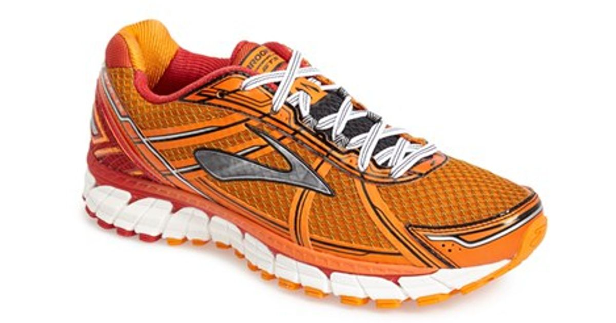 brooks 39 adrenaline gts 15 39 running shoe in red for men. Black Bedroom Furniture Sets. Home Design Ideas