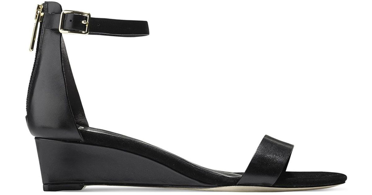 f88e9b7b4 Cole Haan Ankle Strap Wedge Sandals - Rossi Demi in Black - Lyst