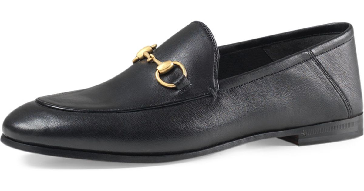 b5b644d60 Gucci Brixton Leather Horsebit Loafer in Black for Men - Lyst