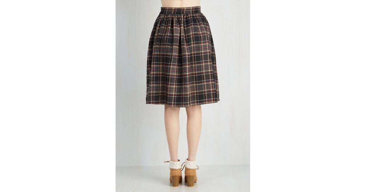 8e2d2663b2 ModCloth Saturday Sojourn Skirt In Plaid - Lyst